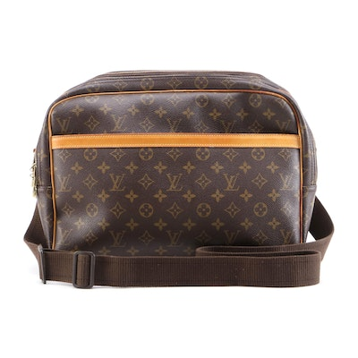 Louis Vuitton Reporter GM Messenger Bag in Monogram Canvas