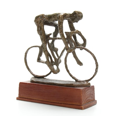 Bronze Sculpture of Cyclist