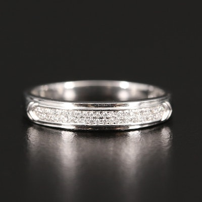 Shy Creation 14K Diamond Double Row Band