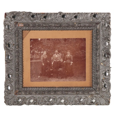Toned Silver Gelatin Family Portrait Photograph, Late 19th Century