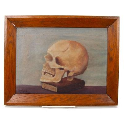 Still Life of Skull Oil Painting, 1923