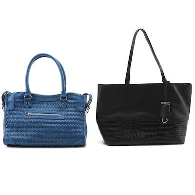 The White Company and Steve Madden Textured Tote Bags