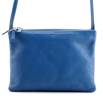 Céline Trio Convertible Crossbody Bag in Royal Blue Leather