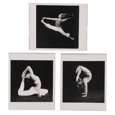 Paul Esposito Digital Print Photographs of Yoga Poses, 2005