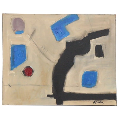 "Randy Groden Mixed Media Painting ""Baolsena,"" 21st Century"