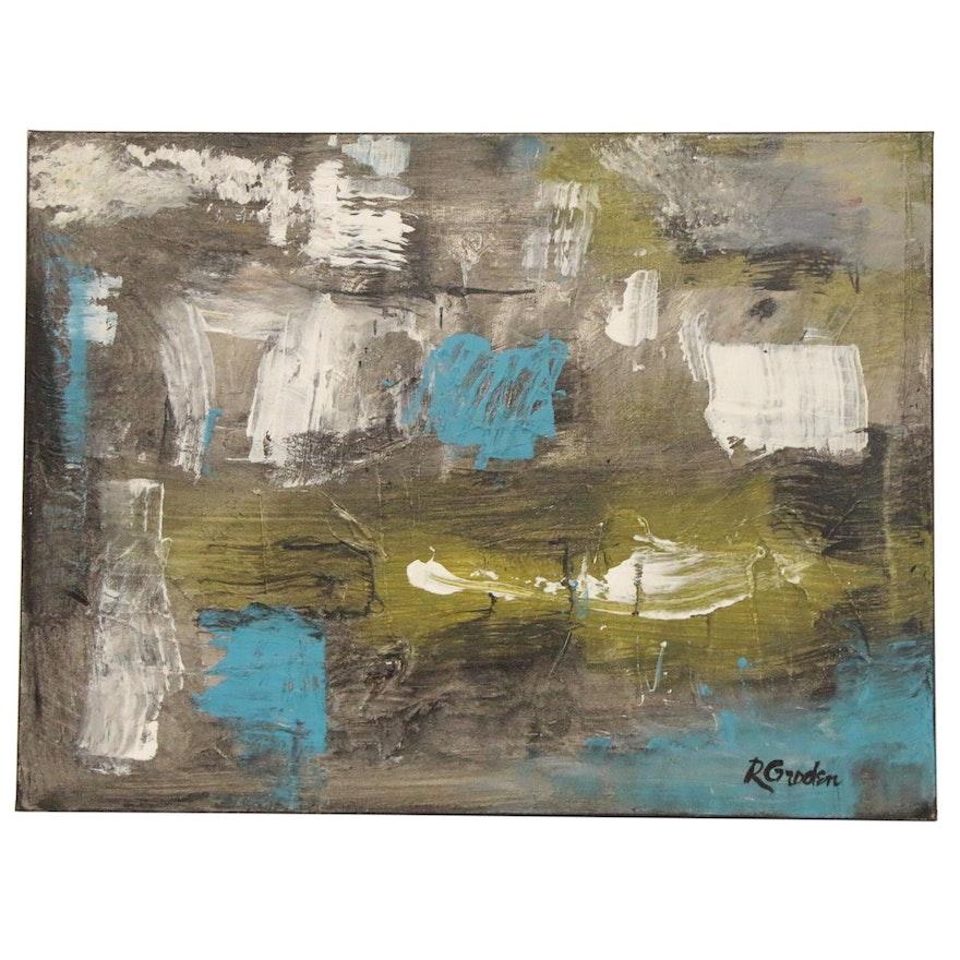 "Randy Groden Acrylic Painting ""Nevis,"" 21st Century"