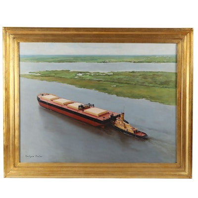 Earlyne Foster Maritime Oil Painting