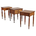 Federal, Sheraton Style One and Two-Drawer Work Tables