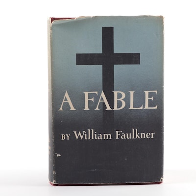 """First Trade Edition, First Printing """"A Fable"""" by William Faulkner, 1954"""
