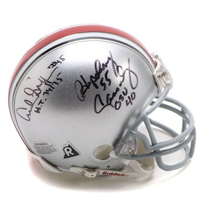 Signed Archie Griffin, Hopalong Cassady OSU Heisman Trophy Winners Mini Helmet