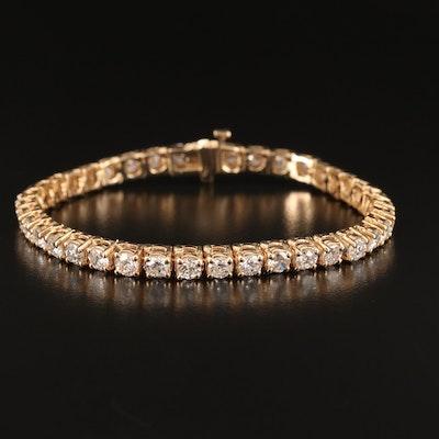 14K 8.02 CTW Diamond Line Bracelet