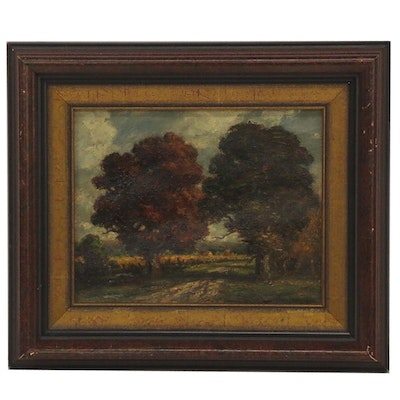 Frederick Leo Hunter Landscape Oil Painting, Early 20th Century