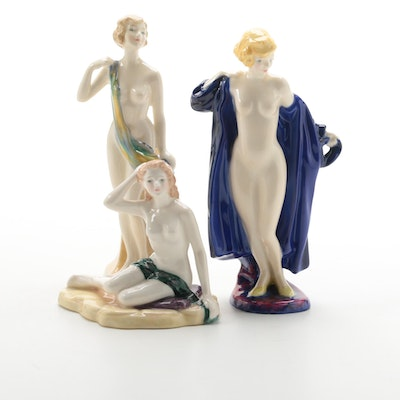 Limited Edition Royal Doulton The Bather's Collection Bone China Figurines