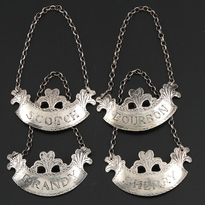 Metroplitan Museum of Art Reproduction Sterling Silver Decanter Tags
