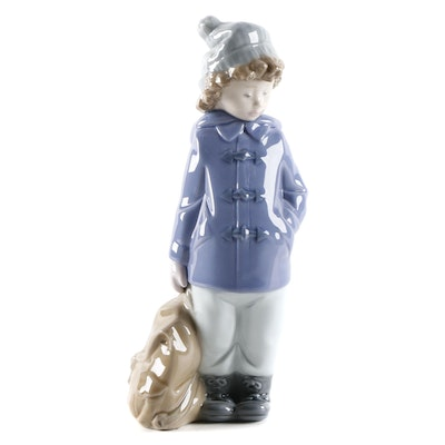 "Lladró ""Ready for an Excursion"" Porcelain Figurine"