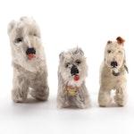 "Steiff Mohair Stuff Toy Dogs Including Schnauzer ""Tessie"""