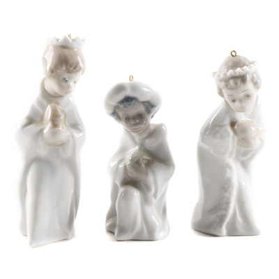 Lladró Porcelain Nativity Ornaments, Late 20th Century