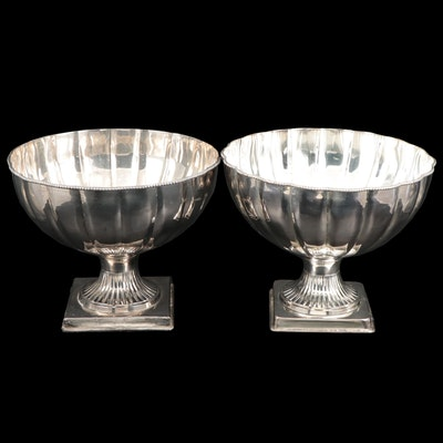 Department 56 Silver Plate Pedestal Centerpiece Bowls