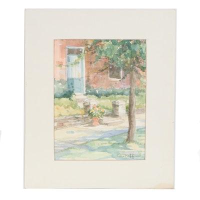 Ellen Hoffner Suburban Landscape Watercolor Painting
