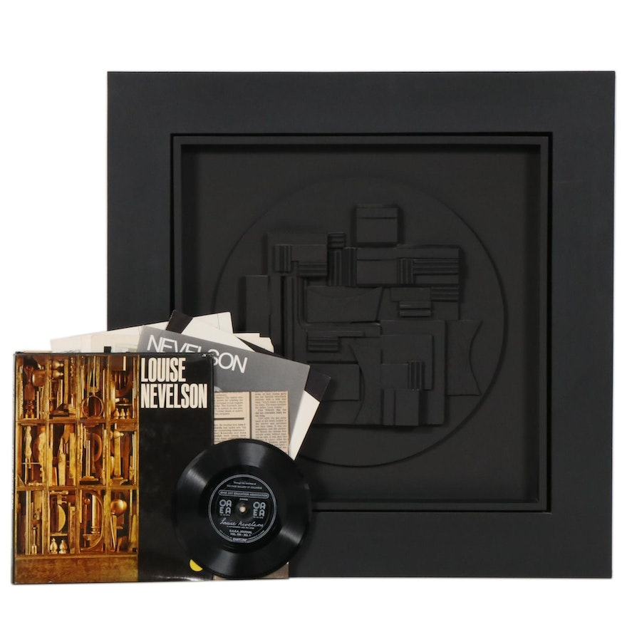 """Louise Nevelson Cast Polyester Resin Sculpture """"Full Moon"""", 1980"""