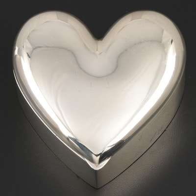 R. Blackinton & Co. Sterling Silver Heart Box, Early to Mid 20th C.