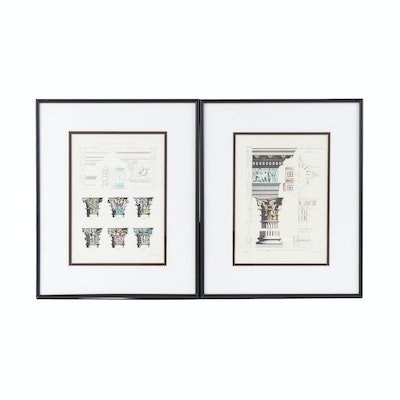 Patrisha Thomson Hand-Colored Lithographs