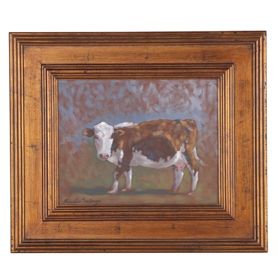 "Marella Poortenga Morris Acrylic Painting ""Cow Study I"", 2008"