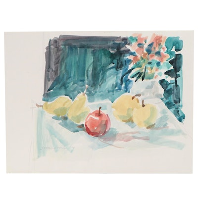 Jack Meanwell Still Life Watercolor Painting, 1997