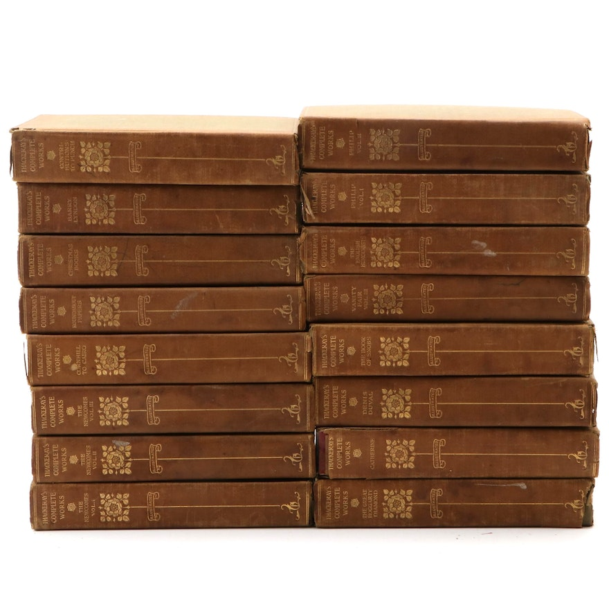 Chiswick Limited Edition Set of William Makepeace Thackeray Books