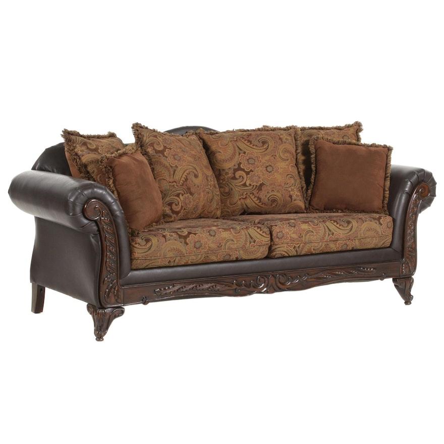 Hughes Furniture Leatherette Upholstered Sofa