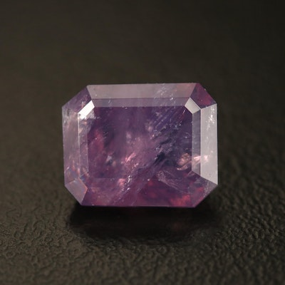 Loose 4.98 CT Octagonal Step Cut Kashmir Sapphire with GIA Report