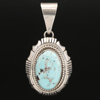 Tom Etsitty Navajo Diné Sterling Turquoise Pendant