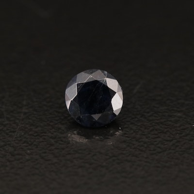 Loose Kashmir 0.86 CT Round Faceted Sapphire with GIA Report