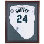 Ken Griffey Jr. Upper Deck Signed Mariners Replica Home White Jersey, Frame  COA