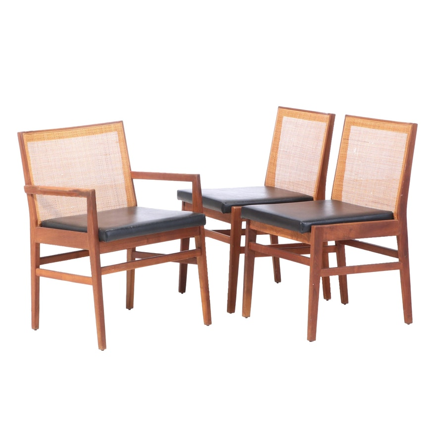 Three Hibriten Chair Co. Mid Century Modern Walnut Dining Chairs, circa 1960