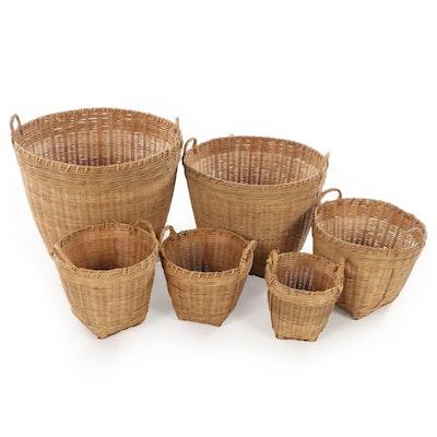 Nesting Woven Wicker Baskets