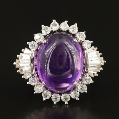 Sterling Amethyst and Sapphire Ring