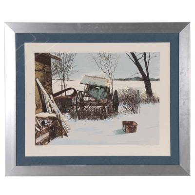 "William Nelson Serigraph ""Stored for Winter"""