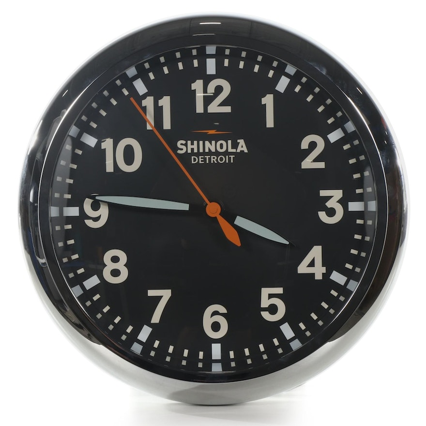 Shinola Runwell Wall Clock, Contemporary