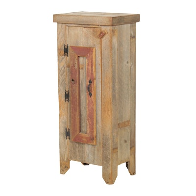 American Primitive Pine Side Cabinet, Early to Mid 20th Century