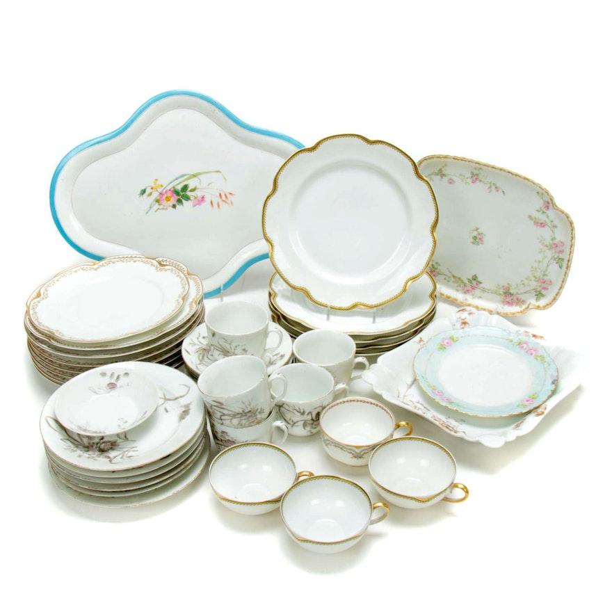 Haviland & Co. Limoges Floral Porcelain Dinner and Serveware