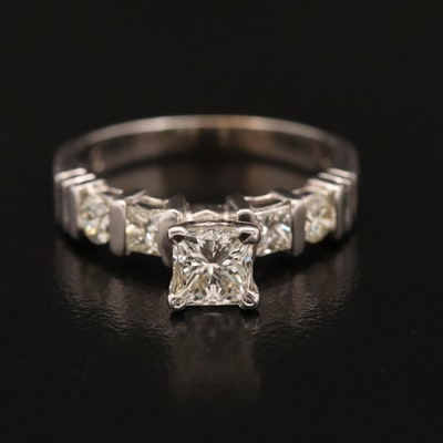 18K 1.05 CTW Diamond Ring with 14K Head