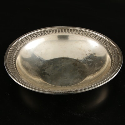 Sterling Silver Centerpiece Bowl with Egg-and-Dart Rims, Early to Mid 20th C.
