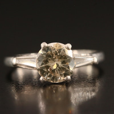 Platinum 1.58 CTW Diamond Ring