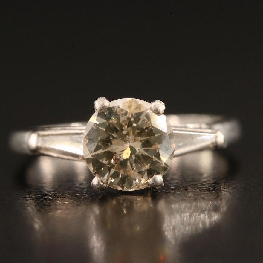 Platinum 1.58 CTW Diamond Ring