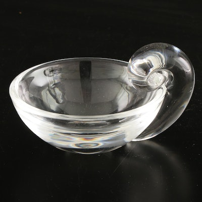 "Steuben Art Glass ""Olive Dish"" Designed by John Dreves, Mid to Late 20th Century"