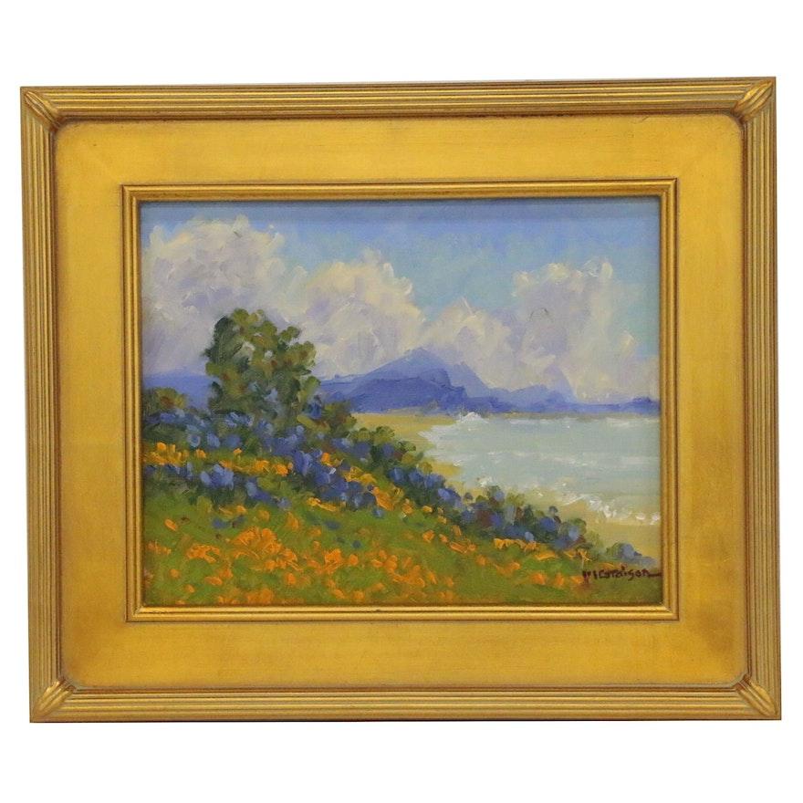 """Marc A. Graison Oil Painting """"Coastal Beauty"""", 2020"""