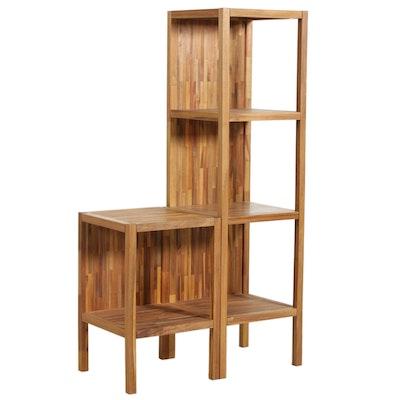 """Uttermost """"Gunnar"""" Teak Shelves, Contemporary"""
