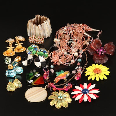 Assorted Jewelry Featuring Tropical Theme