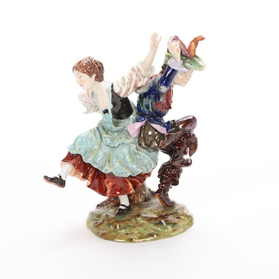 Capodimonte Porcelain Figurine of Dancing Couple
